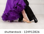 Foot Ballroom Dancers On The...