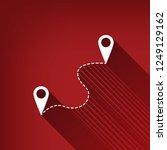 location pin navigation map ... | Shutterstock .eps vector #1249129162
