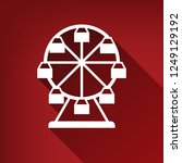 ferris wheel sign. vector.... | Shutterstock .eps vector #1249129192