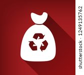 trash bag icon. vector. white... | Shutterstock .eps vector #1249135762