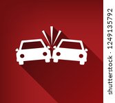 crashed cars sign. vector.... | Shutterstock .eps vector #1249135792
