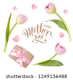 happy mothers day calligraphic ... | Shutterstock .eps vector #1249136488