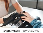 top view of the process of... | Shutterstock . vector #1249139242