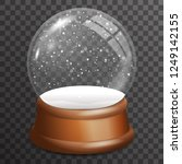 snow falling glass ball... | Shutterstock .eps vector #1249142155