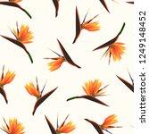 exotic tropical bright orange... | Shutterstock .eps vector #1249148452
