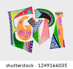 marker sketch drawing of... | Shutterstock .eps vector #1249166035