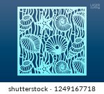 laser cut panel template with... | Shutterstock .eps vector #1249167718