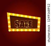 light frame with many little... | Shutterstock .eps vector #1249168912
