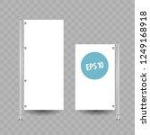 advertising stand banner ... | Shutterstock .eps vector #1249168918