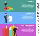 business illustration in flat... | Shutterstock .eps vector #1249168942