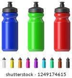 sport water bottle | Shutterstock .eps vector #1249174615