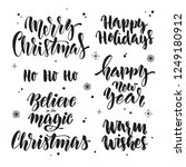 vector set of christmas and new ... | Shutterstock .eps vector #1249180912
