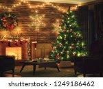 3d rendering christmas interior ... | Shutterstock . vector #1249186462