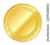 gold coin with stars. vector... | Shutterstock .eps vector #1249186852