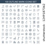 mark icons. set of 100 outline... | Shutterstock .eps vector #1249187362
