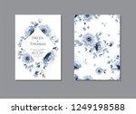 set of vector wedding cards... | Shutterstock .eps vector #1249198588