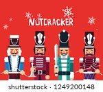 set of nutcracker toy isolated... | Shutterstock .eps vector #1249200148
