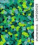 green tropical jungle leaves... | Shutterstock .eps vector #1249204525
