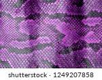 Purple Coloured Real Snake Skin ...