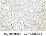 white dried and cracked ground... | Shutterstock . vector #1249208038