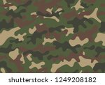 fashionable camouflage pattern. ... | Shutterstock .eps vector #1249208182