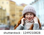 closeup portrait of beautiful... | Shutterstock . vector #1249210828