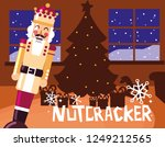 nutcracker king with tree... | Shutterstock .eps vector #1249212565