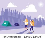 creative landscape with people... | Shutterstock .eps vector #1249213405