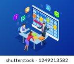 isometric online weekly... | Shutterstock . vector #1249213582