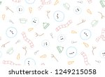 frosty the snowman melting and... | Shutterstock .eps vector #1249215058