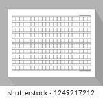 squared manuscript vector   Shutterstock .eps vector #1249217212