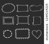 hand drawn set of simple frame... | Shutterstock .eps vector #1249219225