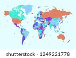 color world map vector | Shutterstock .eps vector #1249221778