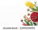 christmas food drink background.... | Shutterstock . vector #1249224052