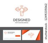 business logo template for... | Shutterstock .eps vector #1249235062