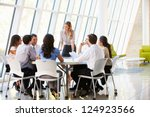 business people having board... | Shutterstock . vector #124923566