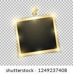 square polaroid realistic... | Shutterstock .eps vector #1249237408