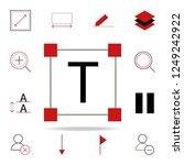 text editor icon. text editor... | Shutterstock .eps vector #1249242922