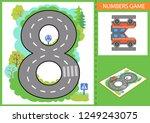 write numbers. children... | Shutterstock .eps vector #1249243075