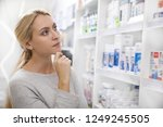 young beautiful blond haired...   Shutterstock . vector #1249245505