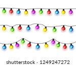 christmas glowing lights on... | Shutterstock .eps vector #1249247272