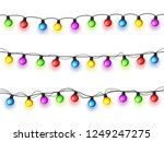 christmas glowing lights on... | Shutterstock .eps vector #1249247275