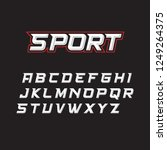 sport fonts suitable for sports ... | Shutterstock .eps vector #1249264375