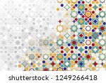 seamless islamic ornamental... | Shutterstock .eps vector #1249266418