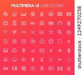 big multimedia icon set  trendy ... | Shutterstock .eps vector #1249270258