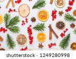 christmas composition. gifts ... | Shutterstock . vector #1249280998