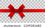 red satin ribbon bow over... | Shutterstock .eps vector #1249281682