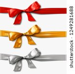 red gold  and silver satin... | Shutterstock .eps vector #1249281688