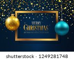holiday greeting card | Shutterstock .eps vector #1249281748