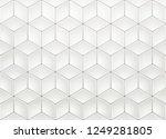 white isometric background | Shutterstock .eps vector #1249281805